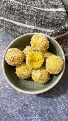 Mango and coconut balls