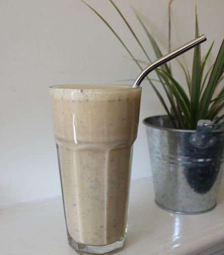Peanut butter and coconut yogurt smoothie