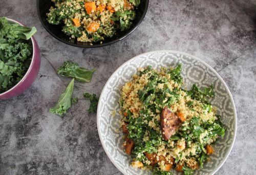 Warm bulgur wheat salad